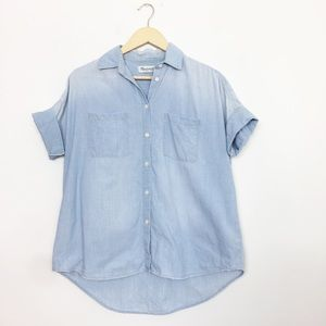 Madewell | Light Wash Chambray Courier Shirt XS